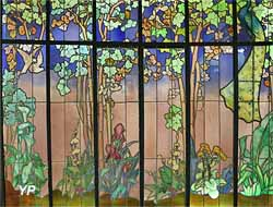 Eléments centraux du vitrail de la véranda La Salle (Jacques Gruber)