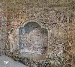 Pavement mural en grès flammé