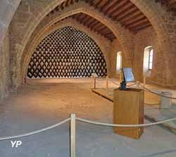 Abbaye de Lagrasse partie publique (ancienne abbaye Sainte-Marie d'Orbieu)