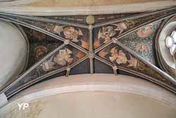 Anges tenant les instruments de la passion (fresque attribuée à Hugues de La Faye, 16e s.)