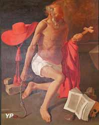 Saint Jérôme au chapeau cardinalice (Richard Mongenet, d'après Georges de la Tour)