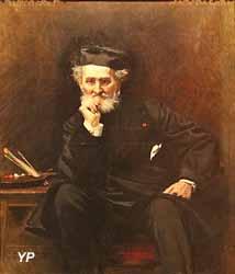 Portrait de Léon Cogniet, peintre (Léon Bonnat, 1880)