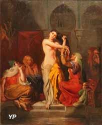 Intérieur de harem ou Femme mauresque sortant du bain au sérail (Théodore Chassériau, 1854)
