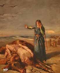 Une jeune fille cosaque trouve Mazeppa évanoui sur le cheval sauvage (Théodore Chassériau, 1851)