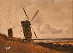 Paysage avec moulins à vent (Georges Michel)