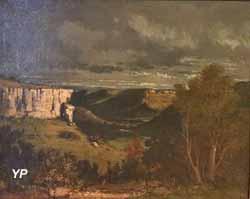 La Vallée de la Loue par temps d'orage (Gustave Courbet, 1877)