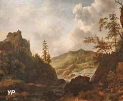 Paysage nordique avec un château sur une colline (Allaert van Everdingen)