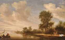 Paysage fluvial (Salomon van Ruysdael, 1642)