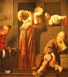Socrate, ses deux épouses et Alcibiade (Reyer-Jacobsz van Blommendael)