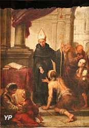 Saint Thomas de Villeneuve distribuant les aumônes (entourage de Batolomé Esteban Murillo)