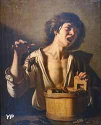 Jeune garçon pincé par une écrevisse (d'après Caravage)