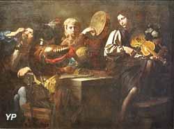 Musiciens et soldats (Valentin de Boulogne)