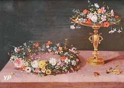 Couronne et coupe de fleurs (Jan II Brueghel)
