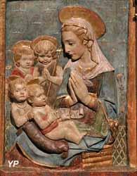 La Vierge adorant l'Enfant avec saint Jean-Baptiste et deux anges (d'après Antonio Rossellino)
