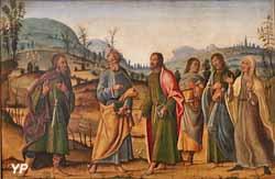 Saint Clément retrouvant sa famille (Bernardino Fungai)