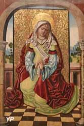 Marie Cléophas, dit autrefois Vierge ou sainte assise sur un trône (Pedro Diaz de Oviedo)