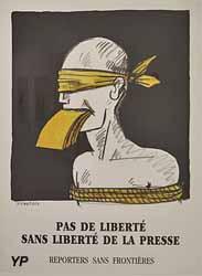 Pas de liberté sans liberté de la presse - projet pour Reporters sans frontières (Tomi Ungerer, 1992)