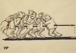 L'union fait la force - dessin pour Europolitain (Tomi Ungerer, 1998)