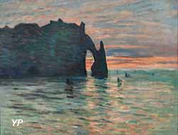 Coucher de soleil à Étretat (Claude Monet, 1883) (Yalta Production)