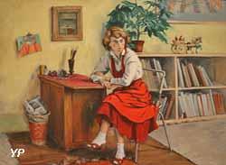 Pegeen dans son atelier (Jean Hélion, 1954)