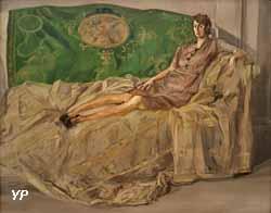 Femme sur un canapé (Francis Gruber, 1945)