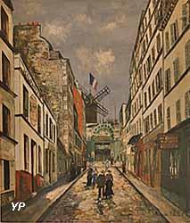 Rue Lepic, le Moulin de la Galette (Maurice Utrillo)
