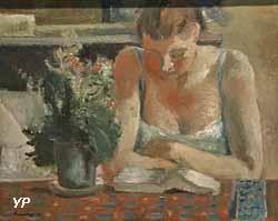 Intimité, femme et fleurs (Maurice Brianchon, 1929)