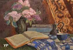 Nature morte, livres et lilas (paul Sérusier, 1908)