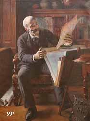 Portrait de Lucien Wiener dans son atelier (Victor Prouvé, 1890)