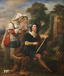 Raphaël dessinant dans la campagne de Rome (Alexandre-Marie Colin, 1857)