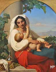 Paysanne italienne et son enfant (Louis-Stanislas Faivre-Duffer, 1846)