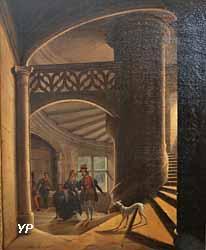Escalier de la galerie des Cerfs au Palais ducal de Nancy (Jean-Joseph Torelle, 1838)