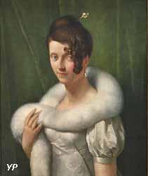 Portrait de jeune femme au boa (François Gérard)