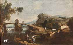 Paysage avec pont rustique (Giuseppe Zais)