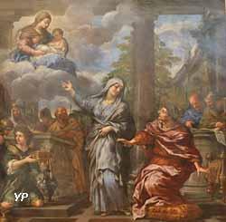 La Sibylle de Tibur annonçant à Auguste l'avènement du Christ (Pierre de Cortone)