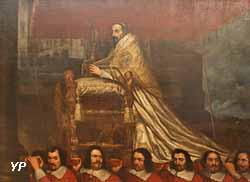 La pape Alexandre VII porté à la procession du Corpus Domini (Giovanni Maria Morandi)