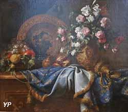 Fleurs et tapis (Jean-Baptiste Monnoyer)