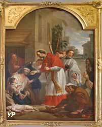 Saint Charles Borromée donnant la sainte communion aux pestiférés de Milan (Caspar de Crayer)