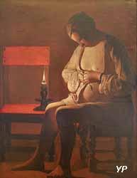 La Femme à la puce (Georges de La Tour, 1638)