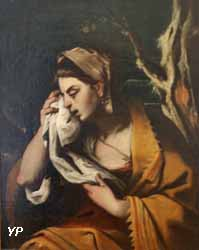 Femme essuyant ses larmes (anonyme)