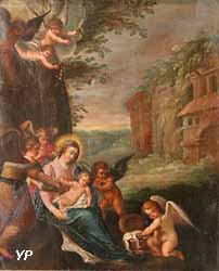 Vierge à l'Enfant servie par des anges (Cornelis de Baellieur)