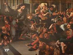 Jésus chassant les marchands du temple (Jan Sanders Van Hemessen, 1556)