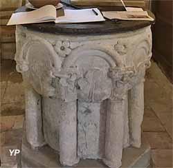 Église Saint-Ouen - fonts  baptismaux (13e s.)