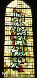 1 des 12 vitraux des nefs latérales de l'église (Parts de Mémoire)