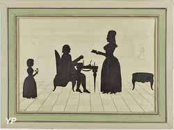 Miroirs petit choux Monsieur et Madame Roland et leur fille Eudora (Paris,musee Carnavalet)