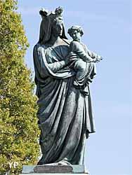 Abbaye de Graville - statue de la vierge noire, Notre-Dame du Havre de Grâce