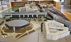 Ministère de l'Economie des Finances et de l'Industrie - maquette du quartier de Bercy