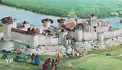 Château-Gaillard - représentation d'époque