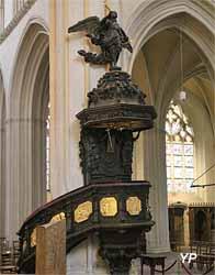 Chaire en bois polychrome et doré (Olivier Daniel,1679)